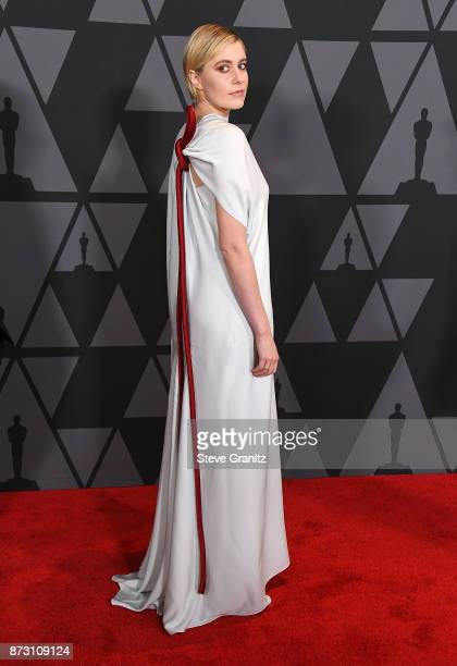 Greta Gerwig arrives at the Academy Of Motion Picture Arts And Sciences' 9th Annual Governors Awards at The Ray Dolby Ballroom at Hollywood Highland...