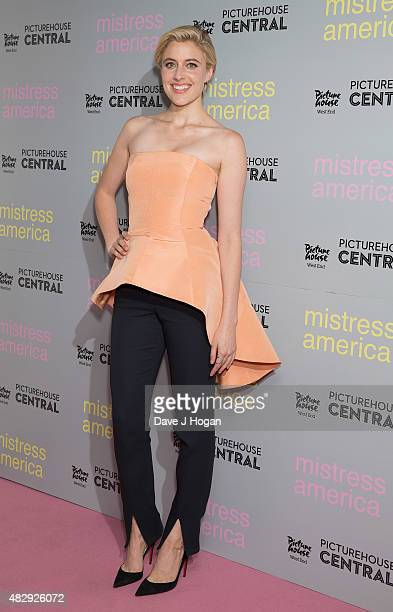 Greta Gerwig attends a photocall for 'Mistress America' at Picturehouse Central on August 4 2015 in London England