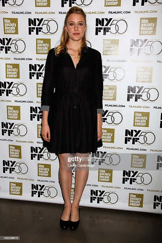 Greta Gerwig attends the 50th annual New York Film Festival Live Talks at the Elinor Bunin Munroe Film Center on October 1, 2012 in New York City.