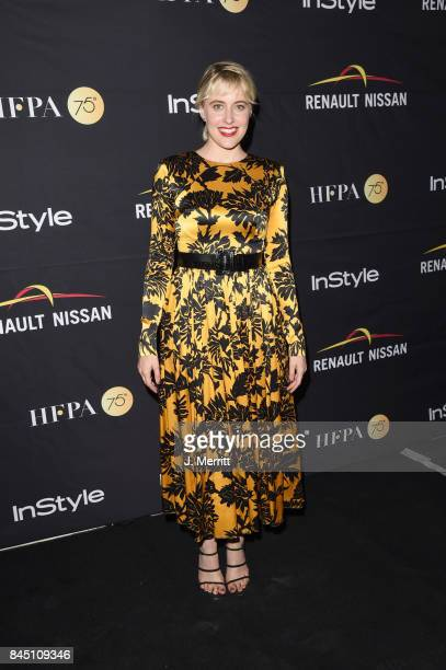 Greta Gerwig attends the HFPA InStyle annual celebration of 2017 Toronto International Film Festival at Windsor Arms Hotel on September 9 2017 in...