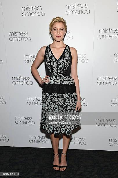 Greta Gerwig attends the 'Mistress America' New York Premiere at Landmark Sunshine Cinema on August 12 2015 in New York City