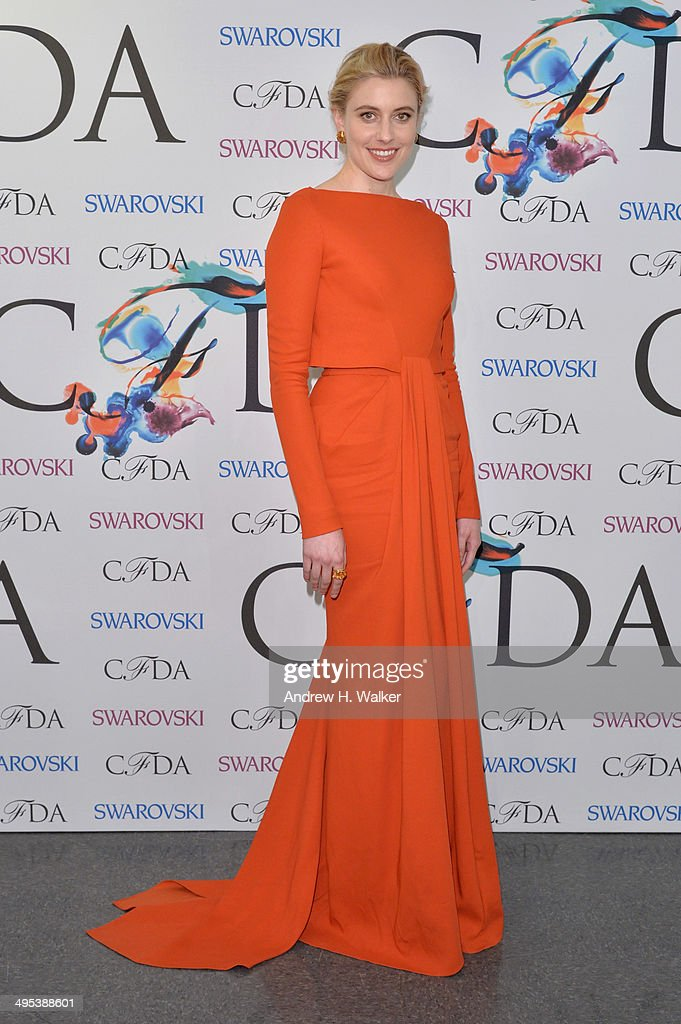 <a gi-track='captionPersonalityLinkClicked' href=/galleries/search?phrase=Greta+Gerwig&family=editorial&specificpeople=4249808 ng-click='$event.stopPropagation()'>Greta Gerwig</a> attends the winners walk during the 2014 CFDA fashion awards at Alice Tully Hall, Lincoln Center on June 2, 2014 in New York City.