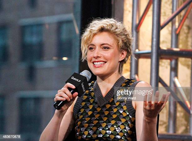 Greta Gerwig discusses 'Mistress America' during the BUILD Series AOL Studios In New York on August 11 2015 in New York City