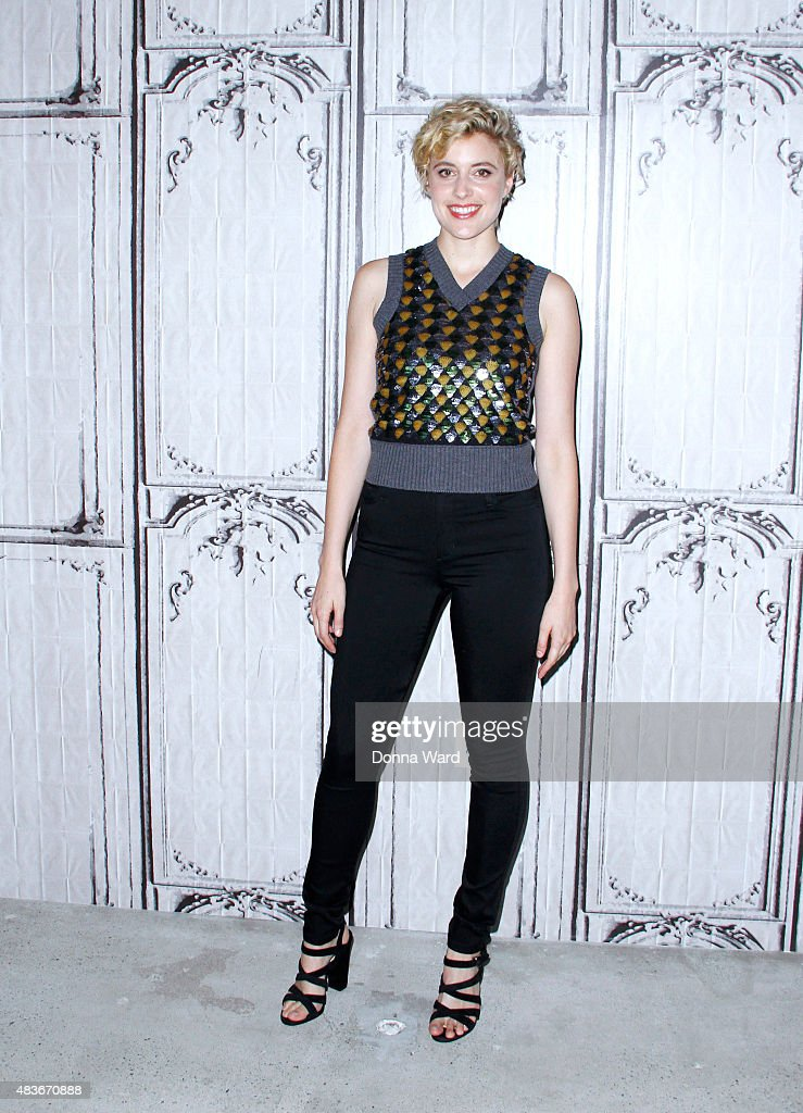 <a gi-track='captionPersonalityLinkClicked' href=/galleries/search?phrase=Greta+Gerwig&family=editorial&specificpeople=4249808 ng-click='$event.stopPropagation()'>Greta Gerwig</a> poses during the BUILD Series AOL Studios In New York on August 11, 2015 in New York City.