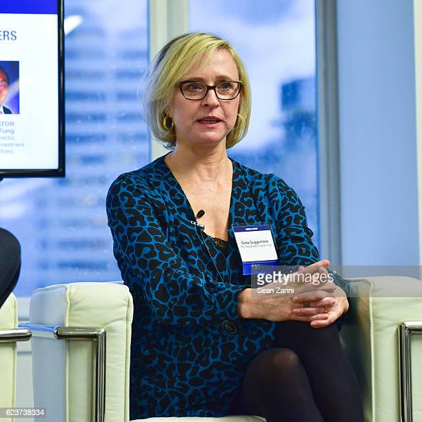 Greta Guggenheim attends The Commercial Observer Financing Commercial Real Estate at 666 Fifth Avenue on November 15 2016 in New York City