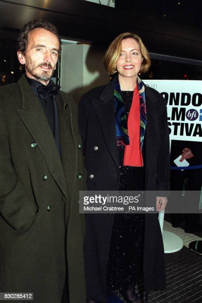 Greta Scacchi with Carlo Mantegazza father of her son Matteo and her first cousin at the closing night gala of The London Film Festival for the...