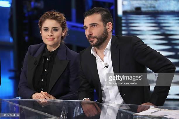Greta Scarano and Edoardo Leo attend 'Che Tempo Che Fa' tv show on January 15 2017 in Milan Italy