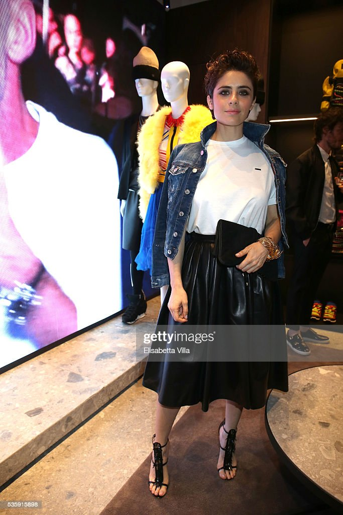 <a gi-track='captionPersonalityLinkClicked' href=/galleries/search?phrase=Greta+Scarano&family=editorial&specificpeople=7765749 ng-click='$event.stopPropagation()'>Greta Scarano</a> attends Dsquared2 in-store cocktail on May 30, 2016 in Rome, Italy.