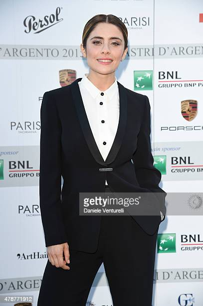Greta Scarano attends the Nastri D'Argento Awards 2015 Cocktail on June 27 2015 in Taormina Italy