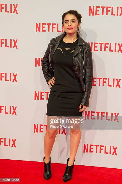 Greta Scarano attends the red carpet for the Netflix launch at Palazzo Del Ghiaccio on October 22 2015 in Milan Italy
