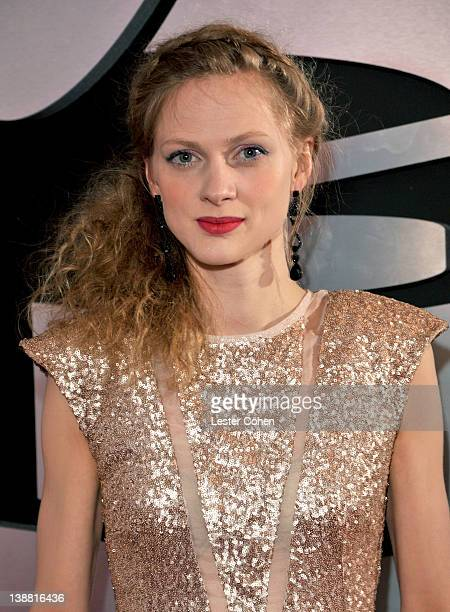 Greta Svabo Bech arrives at The 54th Annual GRAMMY Awards at Staples Center on February 12 2012 in Los Angeles California