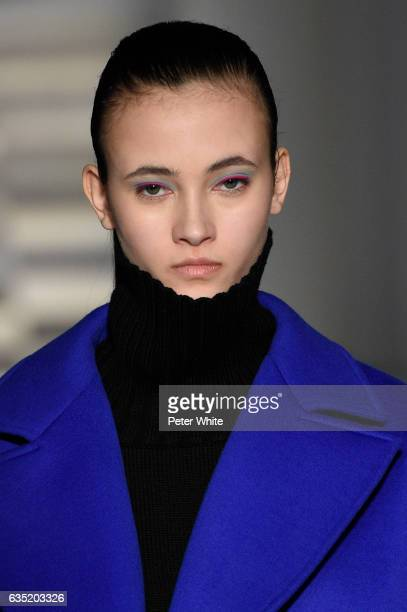 Greta Varlese walk the runway at the Oscar de La Renta fashion show during February 2017 New York Fashion Week The Shows at Gallery 1 Skylight...