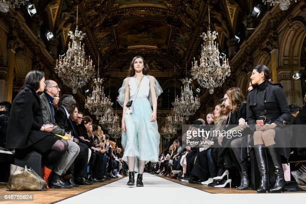 Greta Varlese walks the runway during the Lanvin show as part of the Paris Fashion Week Womenswear Fall/Winter 2017/2018 >> on March 1 2017 in Paris...