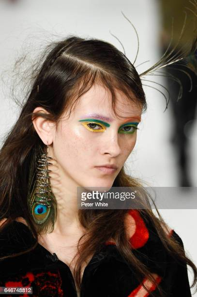 Greta Varlese walks the runway during the Maison Margiela show as part of the Paris Fashion Week Womenswear Fall/Winter 2017/2018 on March 1 2017 in...
