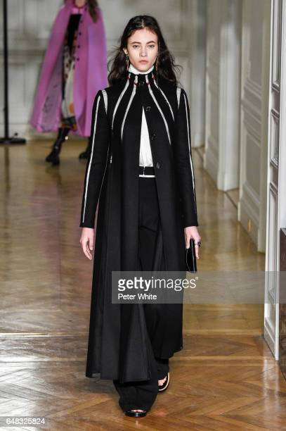 Greta Varlese walks the runway during the Valentino show as part of the Paris Fashion Week Womenswear Fall/Winter 2017/2018 on March 5 2017 in Paris...
