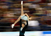 Gretchen Donlan and Nathan Bartholomay compete in the Championship Pairs Free Skate Program Competition during day 3 of the 2015 Prudential US Figure...