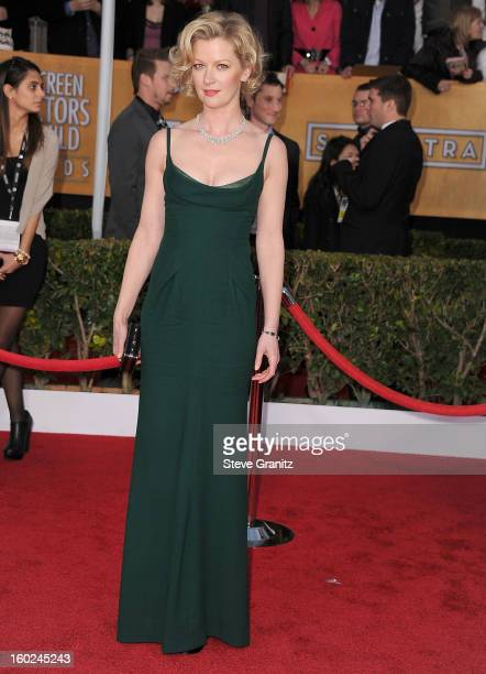 Gretchen Mol arrives at the 19th Annual Screen Actors Guild Awards at The Shrine Auditorium on January 27 2013 in Los Angeles California
