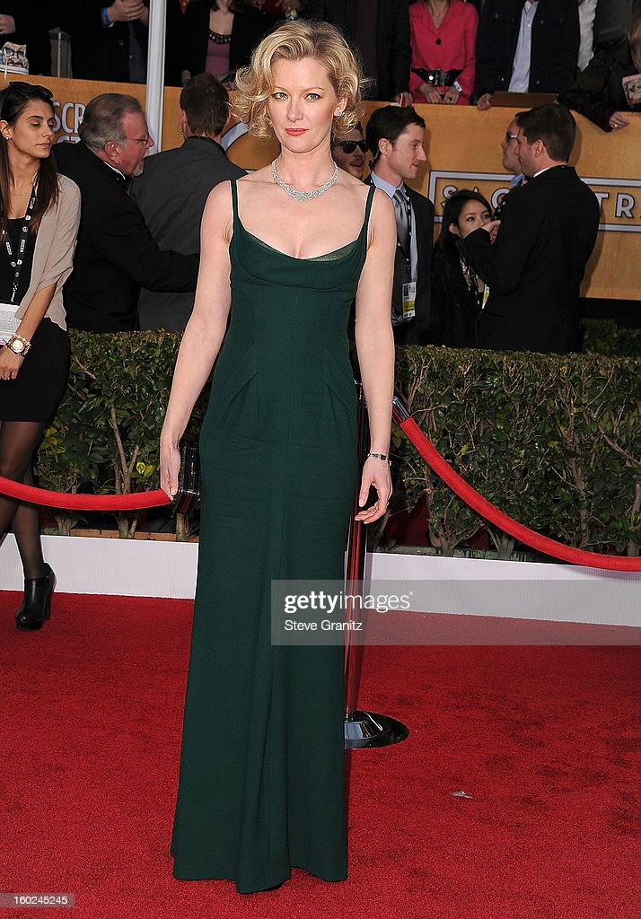 Gretchen Mol arrives at the 19th Annual Screen Actors Guild Awards at The Shrine Auditorium on January 27, 2013 in Los Angeles, California.
