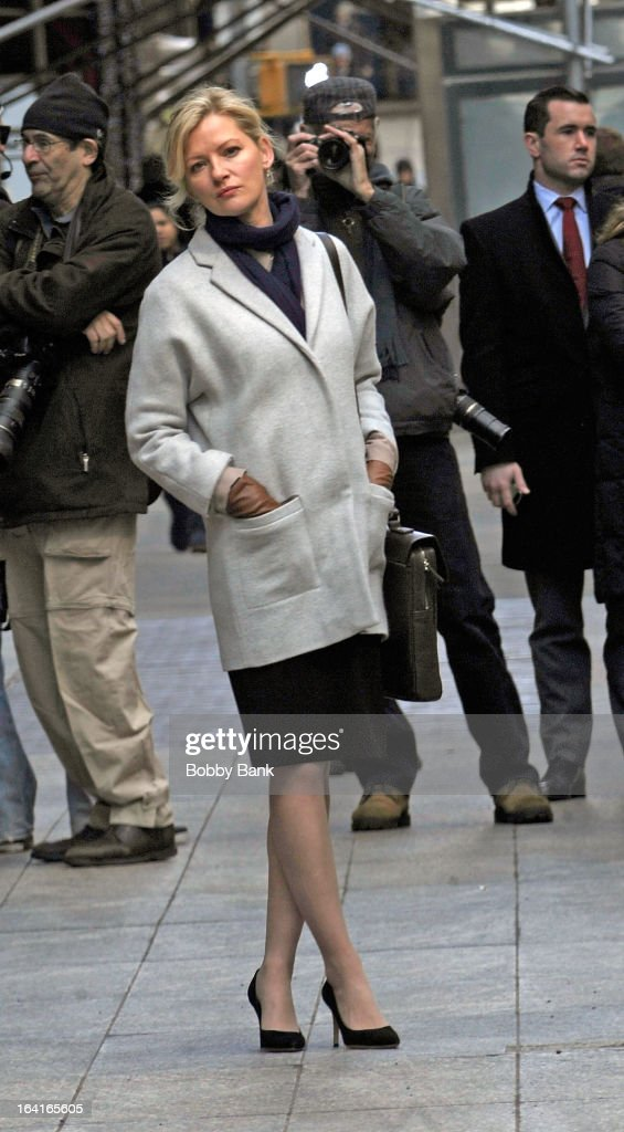 Gretchen Mol filming on location for 'True Story' on March 20, 2013 in New York City.