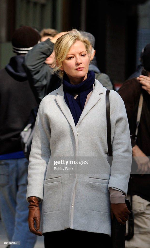 <a gi-track='captionPersonalityLinkClicked' href=/galleries/search?phrase=Gretchen+Mol&family=editorial&specificpeople=206189 ng-click='$event.stopPropagation()'>Gretchen Mol</a> filming on location for 'True Story' on March 20, 2013 in New York City.