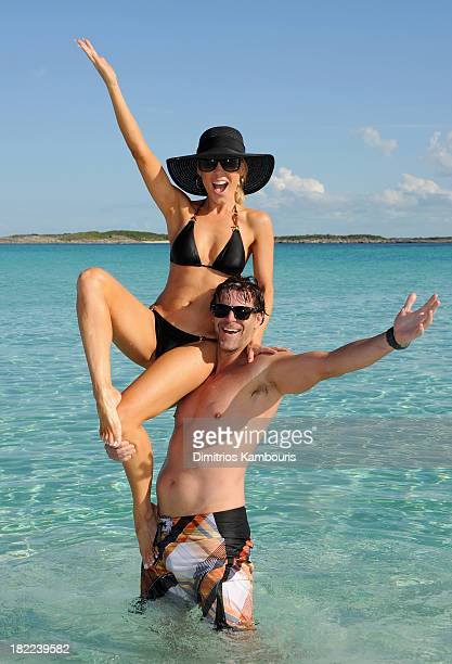 Gretchen Rossi and Slade Smiley attend the Island Routes Caribbean Adventures during Day Two of the Sandals Emerald Bay Celebrity Getaway And Golf...
