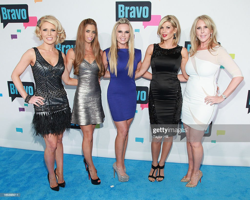 Gretchen Rossi Lydia McLaughlin Tamra Barney Alexis Bellino and Vicki Gunvalson of 'The Real Housewives of Orange County' attend the 2013 Bravo...