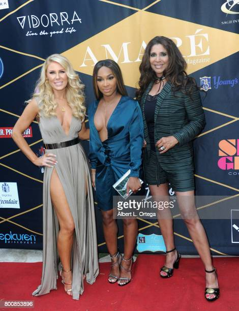 Gretchen Rossi Malika Haqq and Christine Devine attend the Amare Magazine 1st Year Anniversary Issue Release Soiree held at a Private Residence on...