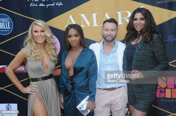 Gretchen Rossi Malika Haqq George Rojas and Christine Devine attend the Amare Magazine 1st Year Anniversary Issue Release Soiree held at a Private...