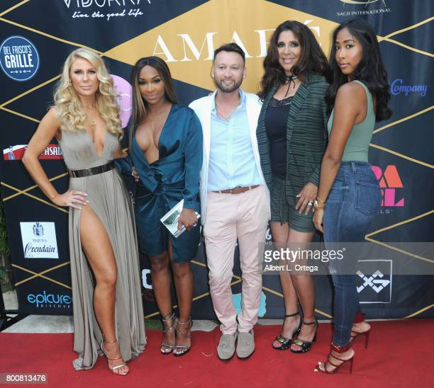 Gretchen Rossi Malika Haqq George Rojas Christine Devine and April attend the Amare Magazine 1st Year Anniversary Issue Release Soiree held at a...