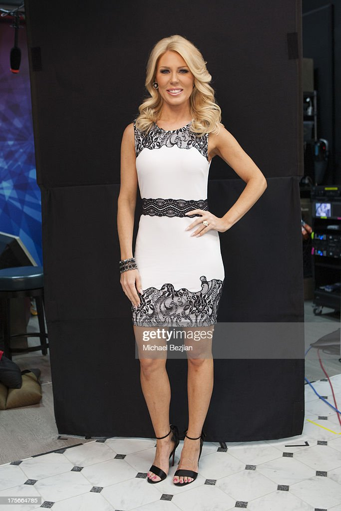 Gretchen Rossi visits Diana Madison's 'AOL LOWDOWN' on August 5, 2013 in Hollywood, California.