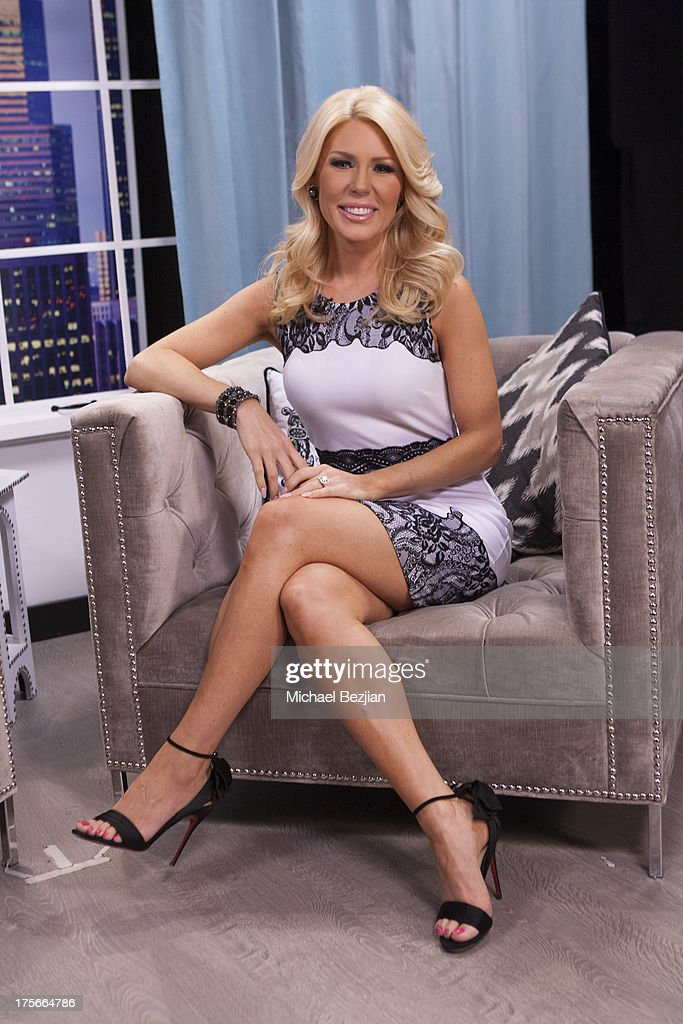 <a gi-track='captionPersonalityLinkClicked' href=/galleries/search?phrase=Gretchen+Rossi&family=editorial&specificpeople=5637804 ng-click='$event.stopPropagation()'>Gretchen Rossi</a> visits Diana Madison's 'AOL LOWDOWN' on August 5, 2013 in Hollywood, California.