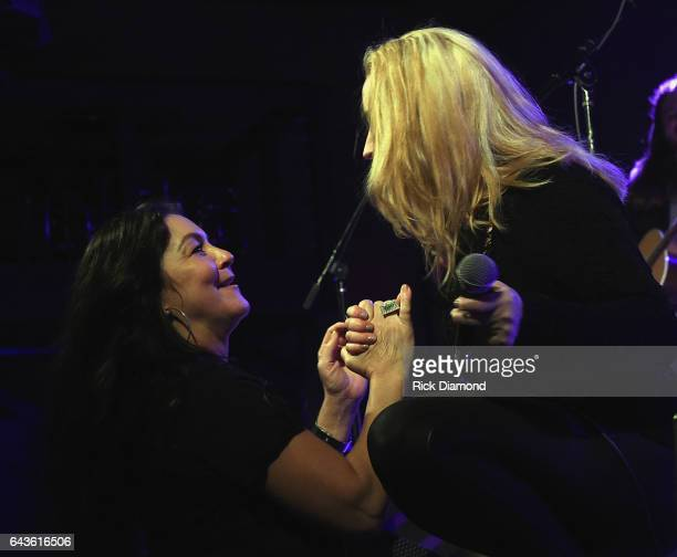 Gretchen Wilson and Heidi Newfield of Trick Pony attends ForgetMeNot A Night Of Music For Alzheimer's Awareness at 3rd Lindsley on February 21 2017...