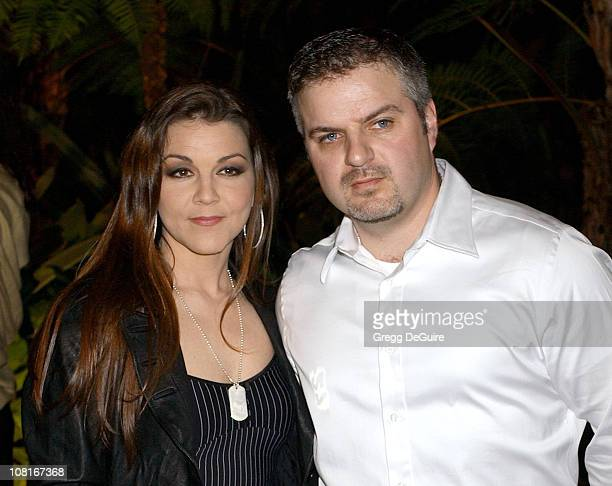Gretchen Wilson during Clive Davis' 2005 PreGRAMMY Awards Party Arrivals at Beverly Hills Hotel in Beverly Hills California United States