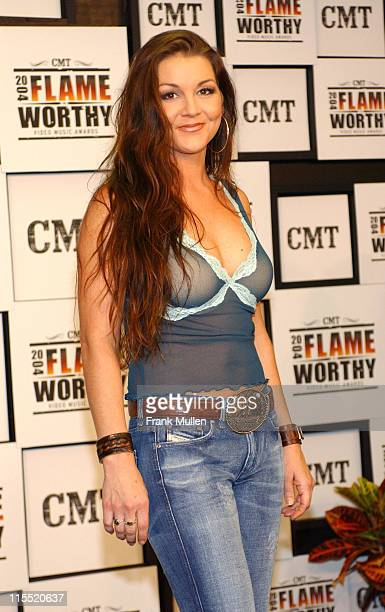 Gretchen Wilson during CMT 2004 Flame Worthy Video Music Awards Press Room at Gaylord Entertainment Center in Nashville Tennessee United States