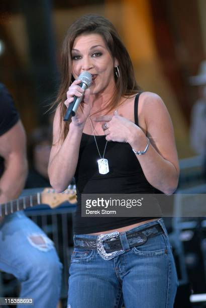 Gretchen Wilson during Gretchen Wilson Performs on the 'Today' Show September 27 2005 at NBC Studios Rockafeller Plaza in New York City New York...