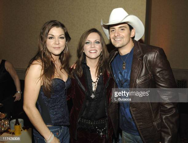 Gretchen Wilson Martina McBride and Brad Paisley during The 39th Annual CMA Awards SONY BMG After Party Inside at Gotham Hall in New York City New...