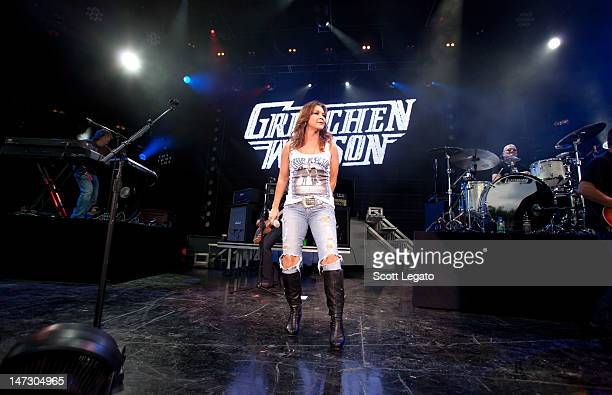 Gretchen Wilson performs at the DTE Energy Center on June 27 2012 in Clarkston Michigan