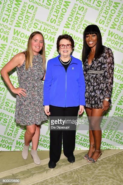 Grete Eliassen Billie Jean King and Cari Champion attend the Women's Sports Foundation 45th Anniversary of Title IX celebration at the NewYork...