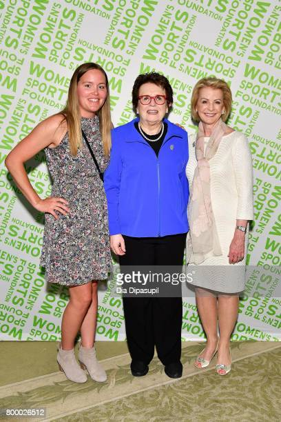 Grete Eliassen Billie Jean King and Deborah Antoine attend the Women's Sports Foundation 45th Anniversary of Title IX celebration at the NewYork...