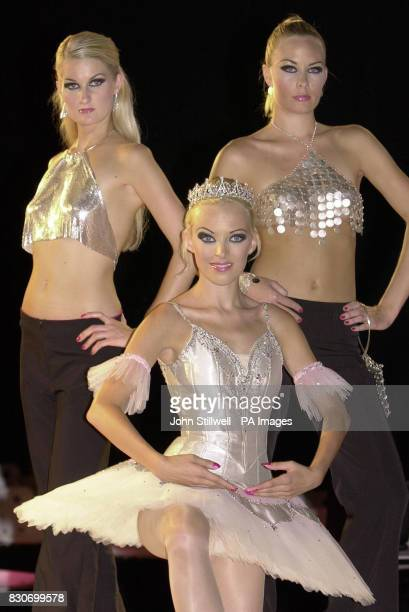 Grethe a ballerina wears a platinum tutu valued at 100 and a matching tiara at 80000 at the International jewellery show 2001 in London The dancer...