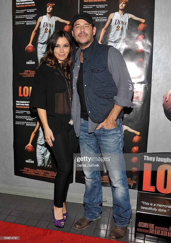 Gretta Monahan and Ricky Paul Goldin attend the 'Long Shot: The Kevin Laue Story' New York Premiere at Quad Cinema on October 26, 2012 in New York City.