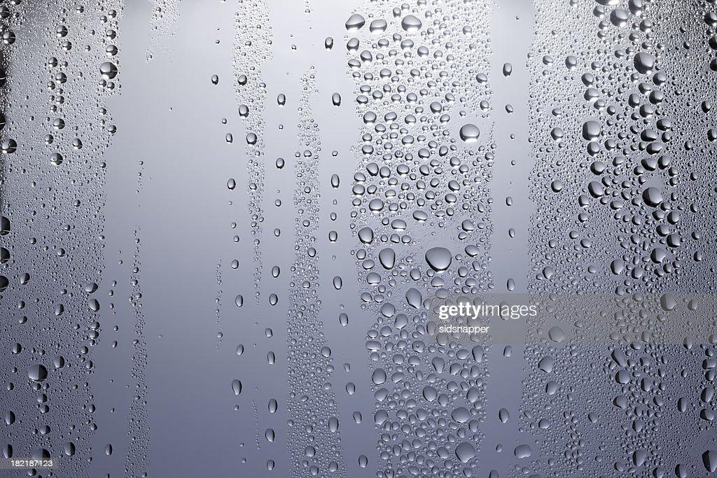 Grey blue condensation patterns