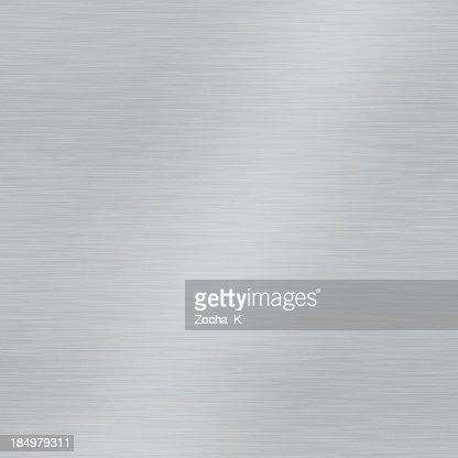 Grey brushed metal plate square sample