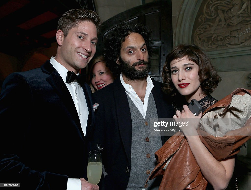 Grey Goose Ambassador Joe McCanta (L) and actress <a gi-track='captionPersonalityLinkClicked' href=/galleries/search?phrase=Lizzy+Caplan&family=editorial&specificpeople=599560 ng-click='$event.stopPropagation()'>Lizzy Caplan</a> (R) attend GREY GOOSE Pre-Oscar Party hosted by Michael Sugar, Doug Wald, Nathan Kahane and Warren Zavala at Chateau Marmont on February 23, 2013 in Los Angeles, California.