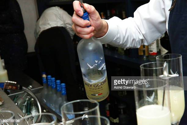 Grey Goose Le Fizz is served during the Alain Ducasse celebration of women in the kitchen part of the Bank of America Dinner Series presented by The...