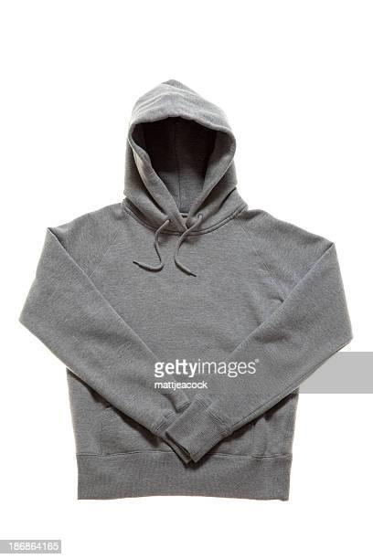 Gris pull à capuche