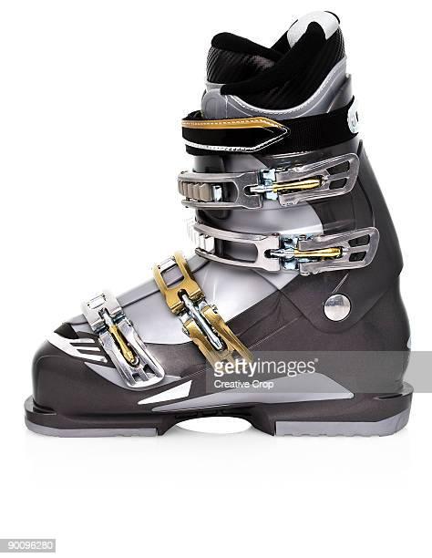 Grey ski boot