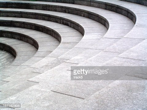 Grey stone, granite curved steps background texture