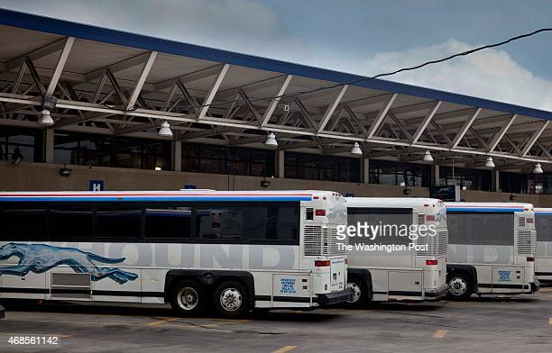 Greyhound Bus station on First St NE due to be closed and the facilities moved into Union Station on April 27 2011 in WashingtonDC