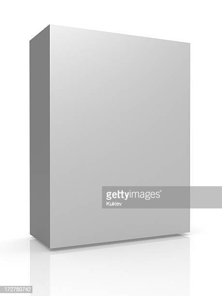 Greyscale tall container on white background with reflection